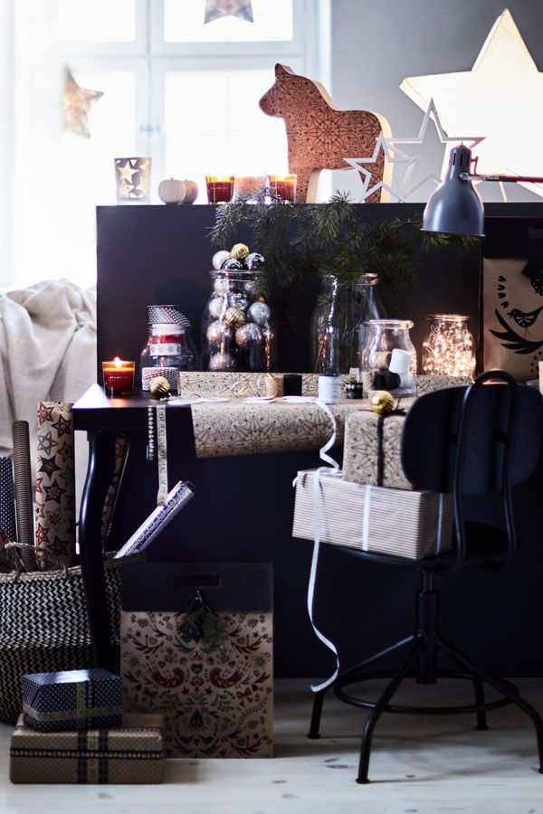 From bows to boxes, IKEA stores have all the holiday gift wrapping supplies you need in unique designs that your family and friends will love. Make all the special gifts look even more special!
