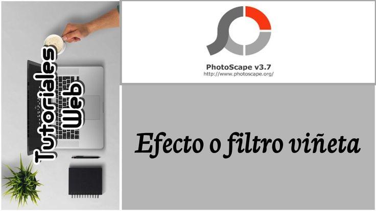 PhotoScape 2017 - Efecto o filtro viñeta (español)