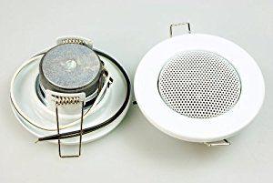 Deckenlautsprecher 2 Stück Einbaulautsprecher 3W 8Ohm Deckenlautsprecher Lautsprecher mini weiß