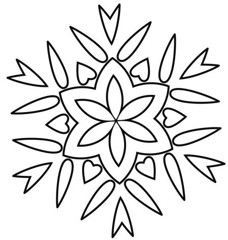A hand embroidery pattern