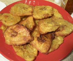 Fried plantain (Banan peze)...all you need is some sauce and griot...