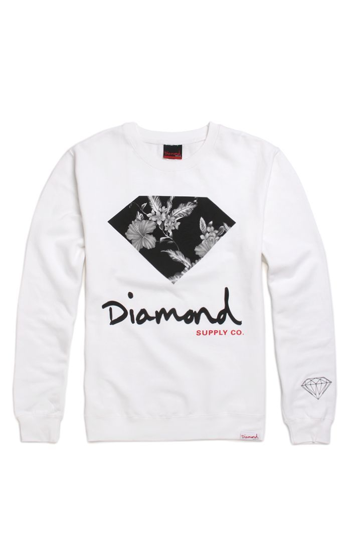 Diamond Supply Co Tonal Floral Crew Fleece. $64.95 #diamondsupplyco #diamond #pacsun