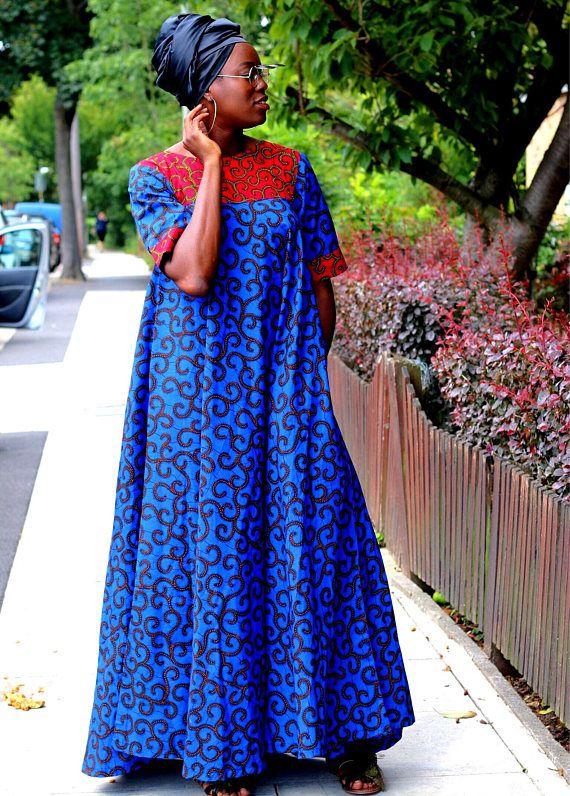 robe Ankara pour maxi femmes Africain wXPqRFxE