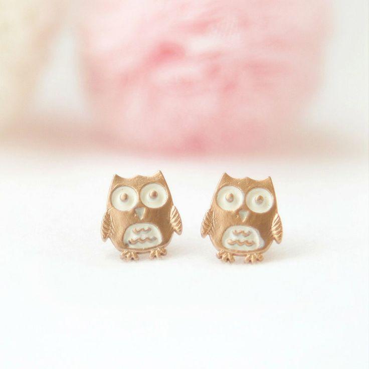 Baby Owl earrings. $15.00, via Etsy.
