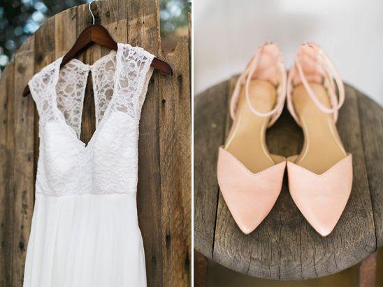 Santa Fe Inspired Wedding In Texas FeSeftaliler Peach Shoes