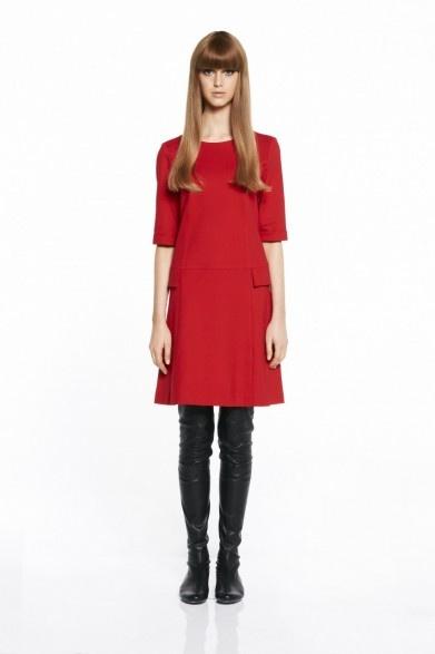 collette by Collette Dinnigan Mod Stitch Detail 3/4 Sleeve Dress