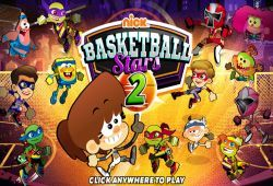 Los personajes de las series de animación del canal Nickelodeon se han unido para disputar un fantástico campeonato de baloncesto. Deberás de escoger a tu personaje favorito y comenzar a enfrentarte al resto en partidos uno contra uno. Tienes que golpear a tu rival para quitarle el balón y usa la barra espaciadora para lanzar cuando estés cerca de la canasta para subir puntos a tu marcador.