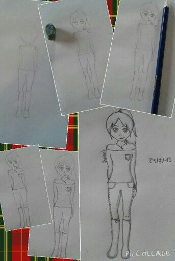 Drawing manga girl step by step:)