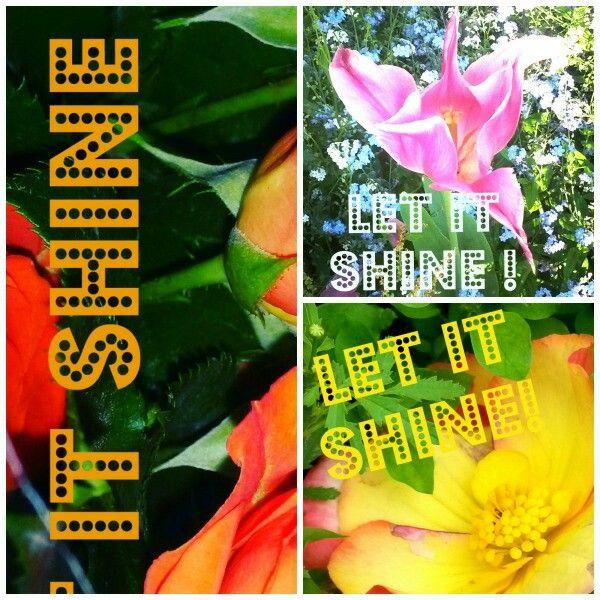 """Nouvelles créations Redbubble Shop  (Missk123) Stickers & Cartes """"Let It Shine!"""""""