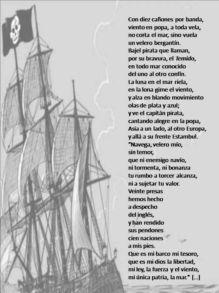 Jose de Espronceda. Canción del Pirata.