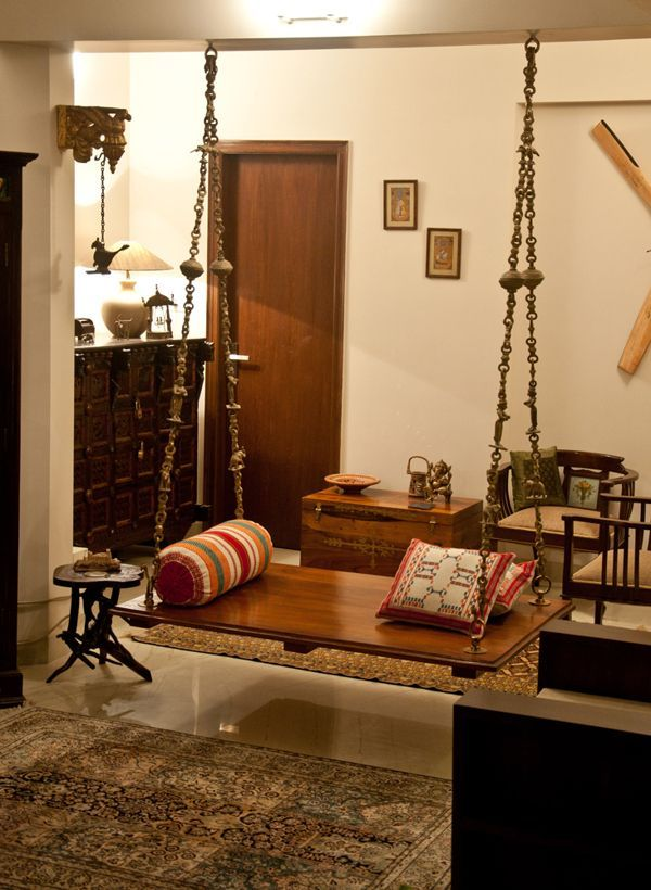 Marvelous Simple Home Decor Ideas Indian Part - 13: Oonjal - Wooden Swings In Indian Homes