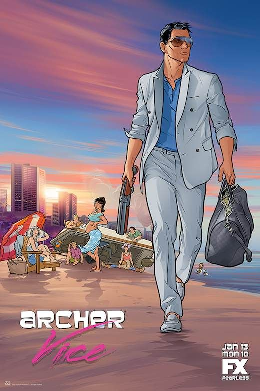 Archer FX Lana | Archer': Lana is very pregnant in new Season 5 'GTA'-themed poster