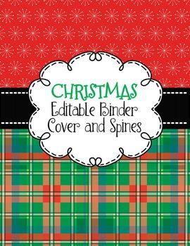 binder covers editable stylish christmas themed