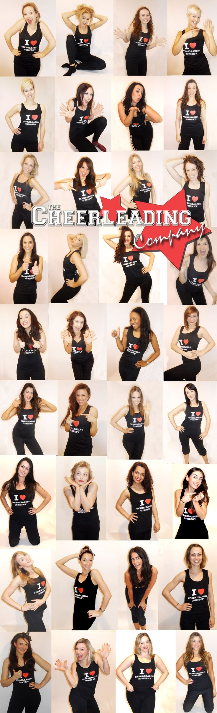 Some of The Cheerleading Company's team of in house dance teachers. Amazing talent! Dance hen parties nationwide by The Cheerleading Company. Call us on 02086724586 or email hens@cheerleadingcompany.co.uk