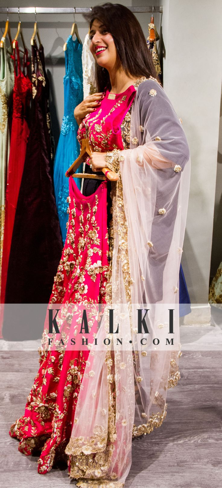 "About her experience Divyanka said, ""I was excited but was also nervous if I will get something that suits my taste, but I am so happy. I have come to the bridal section and everything is so beautiful"""