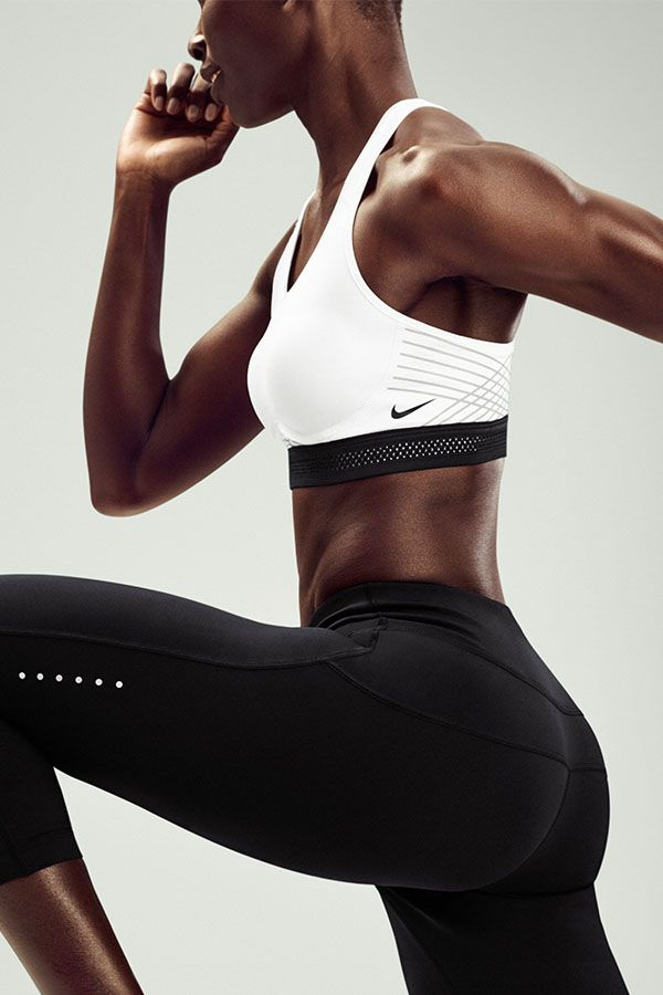 Support doesn't have to mean an unflattering fit. The NikeWomen Pro Fierce Reflective Sports Bra does both, with structured cups and stylish reflective stripes, plus compressive material that holds up during your workouts and runs.
