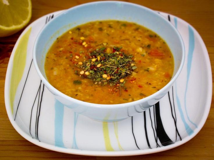 Ezo Gelin Soup - (Bride Ezo's Soup ,Red Lentil and Mint Soup) is a traditional Turkish lentil soup