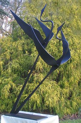 flying birds garden sculpture