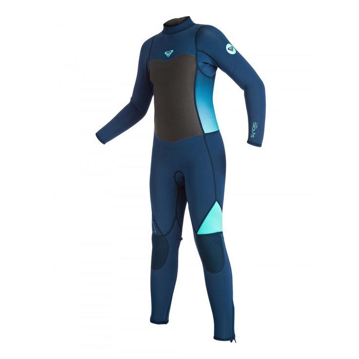 Girls 8-14 Syncro Flatlock 3/2 Back Zip Steamer Wetsuit ERGW103008 Roxy