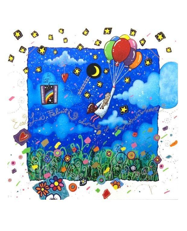 ANDREA AGOSTINI - Ecco... la felicità colora il tuo ritrovato amore - serigrafia