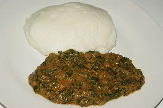 Fiso's Kitchen - Spinach ne Dovi (Spinach in Peanut Butter sauce)