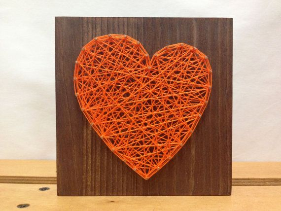 Bon String Art Heart Sign Orange Wall Art By OneRoots On Etsy