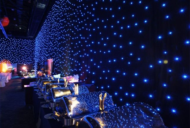 Black drape events star drop show led curtains drape for Sheer galaxy fabric