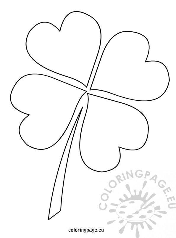 4 leaf clover template canvas paintings pinterest
