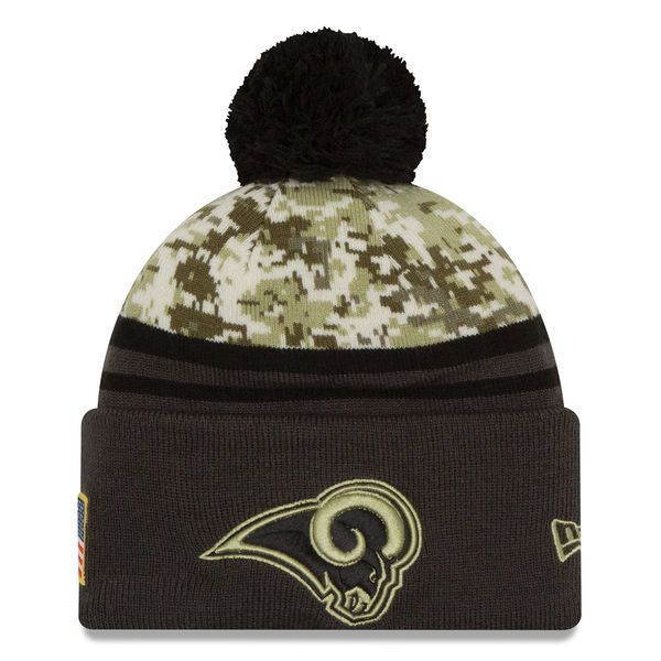 2016 NFL New Era Los Angeles Rams Camo/Graphite Salute To Service Knit hat #NewEra #LosAngelesRams