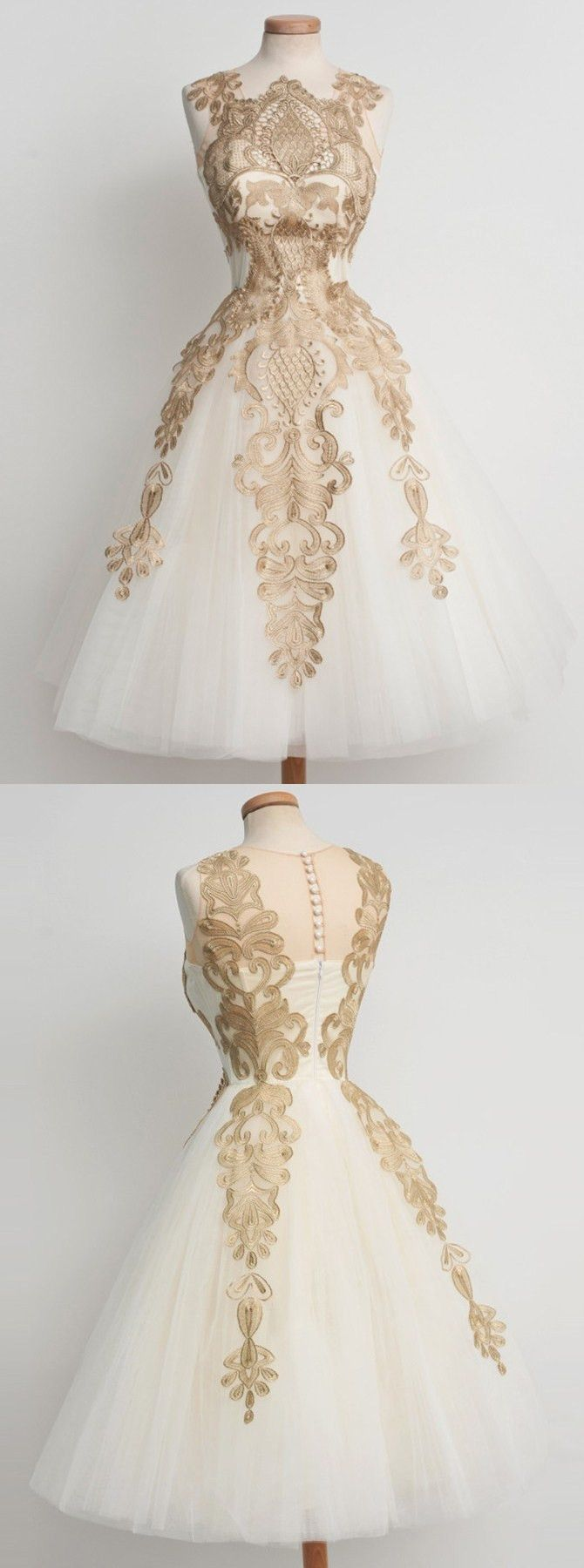 vintage homecoming dresses, short prom dresses with champagne appliques, cheap prom party dresses,prom dresses 2017