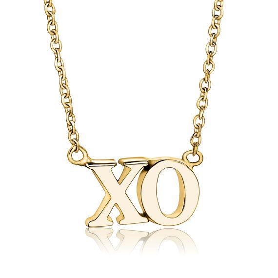 xo pendant necklace