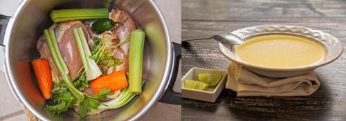 El Caldo de Pollo Mexicano y los ingredientes que se usan en su preparación.