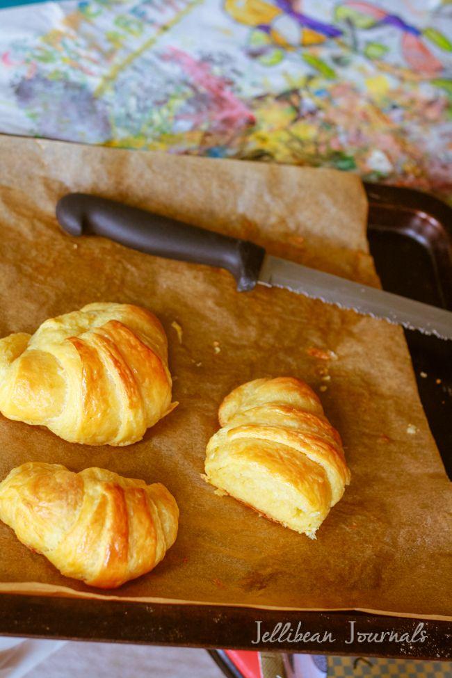 Zelfgemaakte Croissants: Buttery, schilferige en oh zo DELISH !!  | Jellibean Tijdschriften