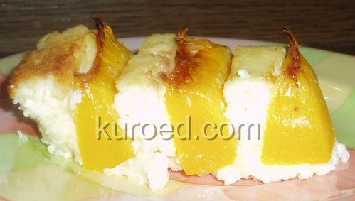 РЕЦЕПТЫ | Творожный тортик с персиками