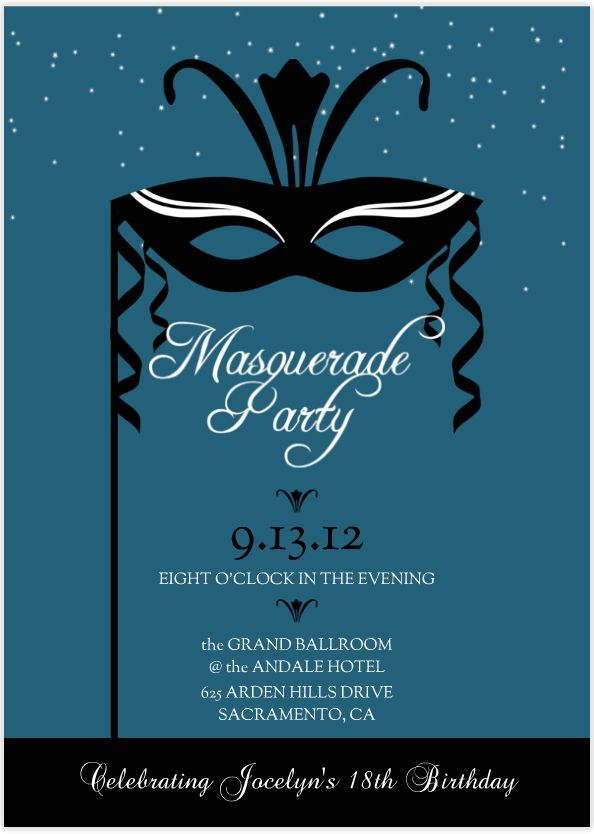 Image detail for -... Masquerade Party theme, which sets the perfect tone for an elegant
