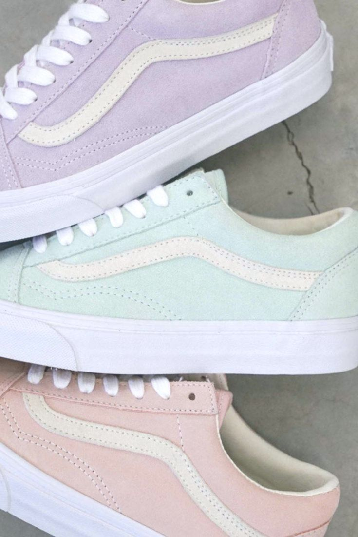 Love these pastel vans for spring and summer. #chaussure