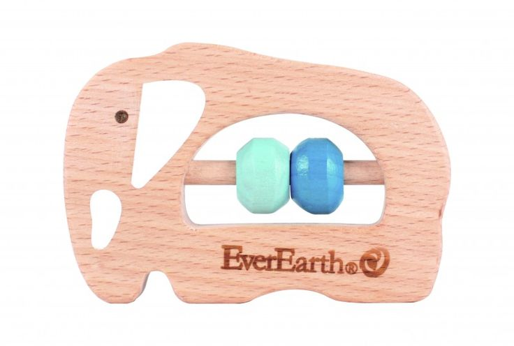 EverEarth Grasping Toy Elephant – Wooden Baby Toy FSC sustainable timber, BPA free, tested to strict European safety standard & recycled packaging.