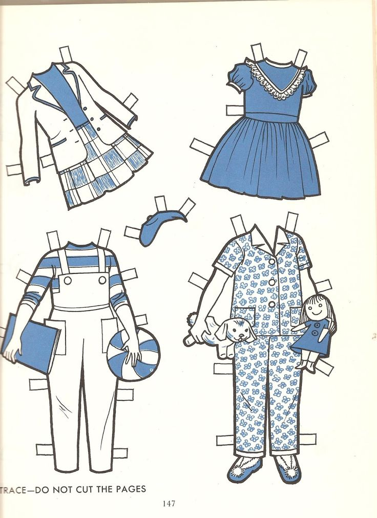 how to make a paper girl doll