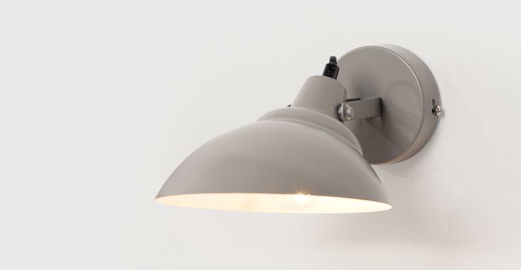 Avery Wall Light, Mid Grey