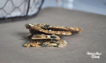 Crackers Danois aux graines (flocons d'avoine, graines de sésame, graines de tournesol, graines de courge)