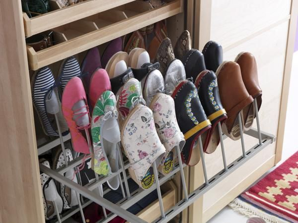 Compact and super neat way of organizing shoes