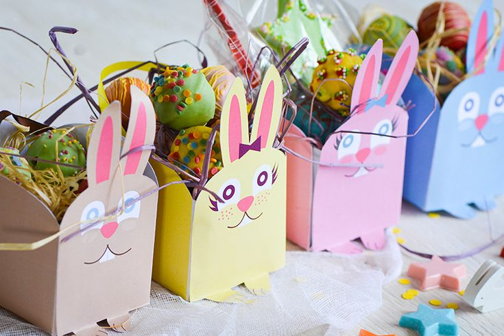 des mini box de Pâques à imprimer