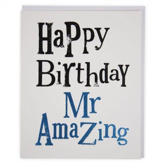 Mr Amazing birthday card