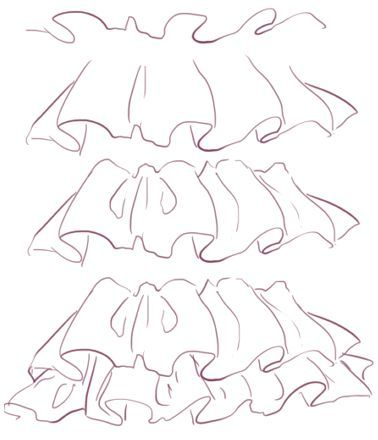how to draw ruffles ✤ • Find more at https://www.facebook.com ...
