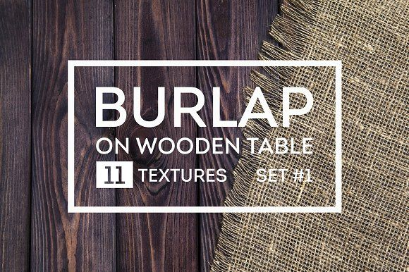 Rustic burlap on a wooden table  by Max Lashcheuski on @creativemarket