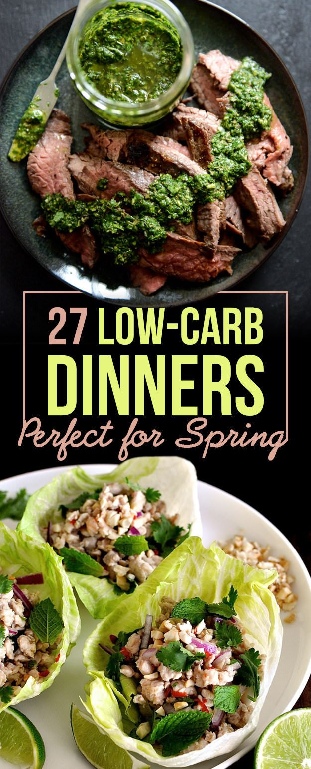 Check out these 27 low carb dinners. These mouth-watering recipes won't leave you hungry or bust your carb budge