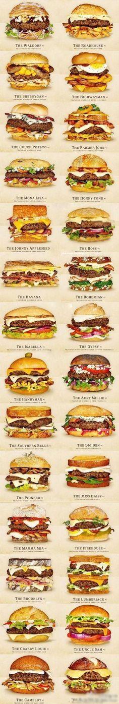 Images Hamburgers pouvant servir pour une invitation ou de la déco - Anniversaire Etats-Unis/USA - Cheeseburger