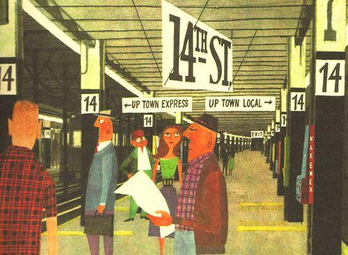 illustration from This is New York by Miroslav Sasek (1960)