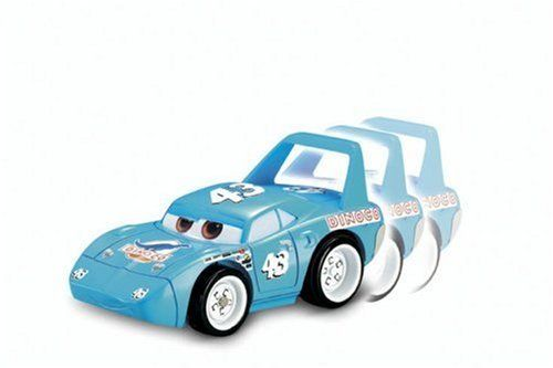 Cars Shake & Go Racers - King by Fisher Price. $78.95. The more you shake him up the longer he goes -- up to 20 feet. Just shake him up to start his engine. Age Range 3 to 8 Years. Part of Pixar Shake & Go Cars Assortment. Strip Weathers (aka the King) is the reigning champ, having won the Piston Cup many years in a row. From the Manufacturer                In the Disney/Pixar movie Cars, Strip Weathers (a.k.a. The King) is the reigning champ, having won the Piston Cu...