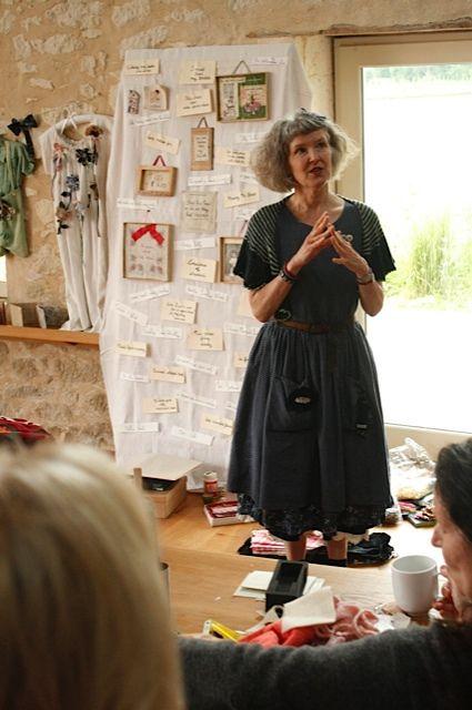 Julie Arkell at work at Les Soeurs Anglais wprkshop in france...via  Flickr - Photo Sharing!